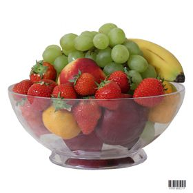 21cm round plastic serving bowl
