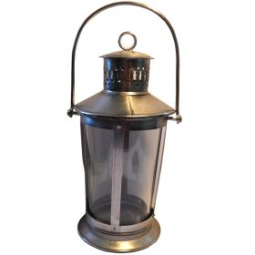 Large Lantern cast iron & glass
