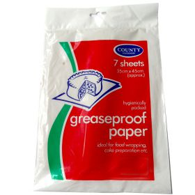 7 sheet pack of greaseproof paper