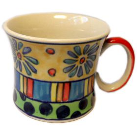 Hand-painted medium Indian ceramic mug