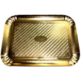 Gold-coloured oblong tray