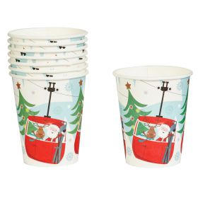 Neviti Festive Xmas Fun Pack of 8 Paper Cups