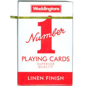 Waddingtons Playing Cards Red