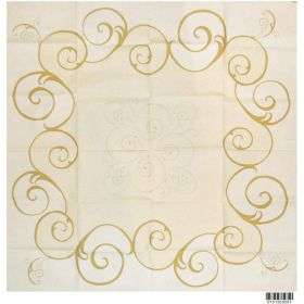 Dunicel 84cm table cover Vincent Cream