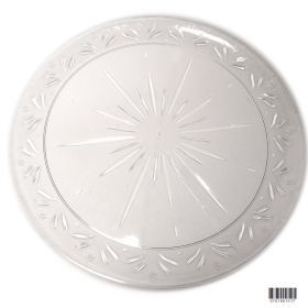 10in starburst clear plastic plate