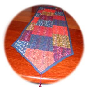2m hand-stitched patchwork table runner