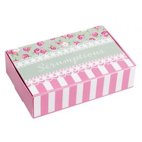 Pack of 10 Thrills & Spills Cake Boxes Pink Floral