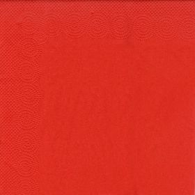 Pack of 20 red 33 cm square napkins