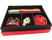 Vanilla and rose incense gift box